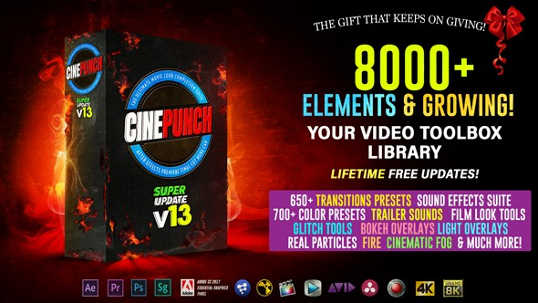 Videohive CINEPUNCH V.13 - 8000+ Elements and Growing! 20601772 - Last Update 23 October 18