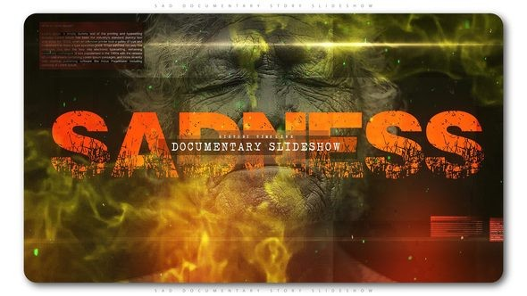 Videohive Sad Documentary Story Slideshow 22024595