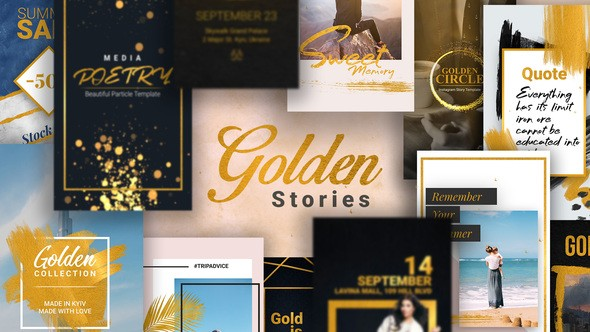 Videhive Golden Stories // Animated Stories for Instagram 22630824