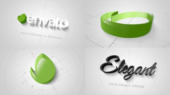 Videohive Technical Elegant Logo 3D Opener 22066596