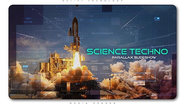 Videohive Science Techno Parallax Slideshow 20596470