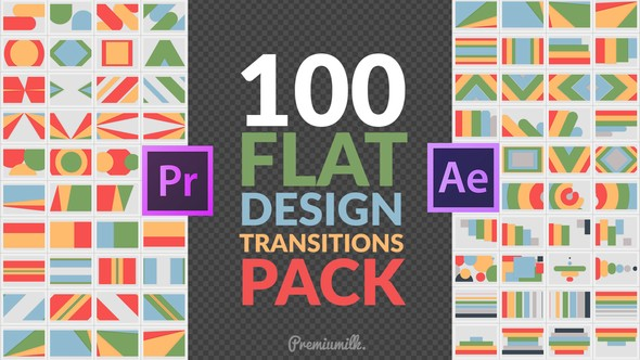 Videohive Flat Design Transitions Pack | Mogrt 22644859
