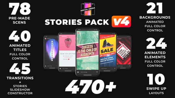 Videohive Instagram Stories V4 21895564 (3 October 18 Update)