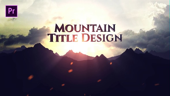 Videohive Mountain Title 22847356