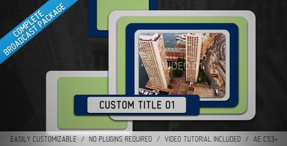 Videohive Pop Up Sliders Broadcast Package 1909326