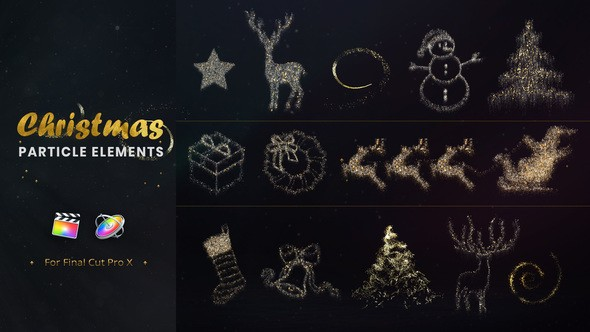 Videohive Christmas Particle Elements for Final Cut Pro 22867283