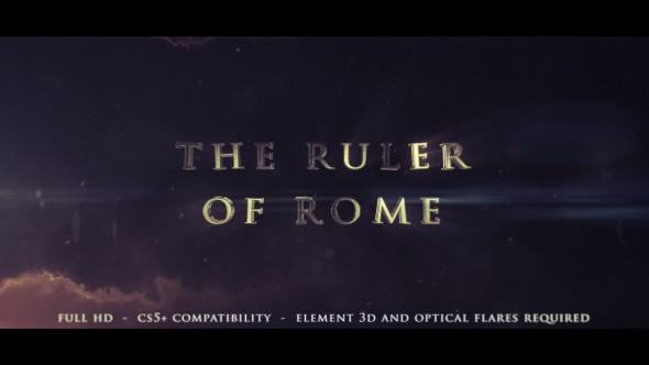 Videohive  The Ruler Of Rome - Cinematic Trailer 11959020