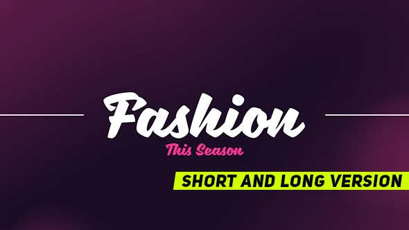 Download Videohive Fashion Promo 19239640
