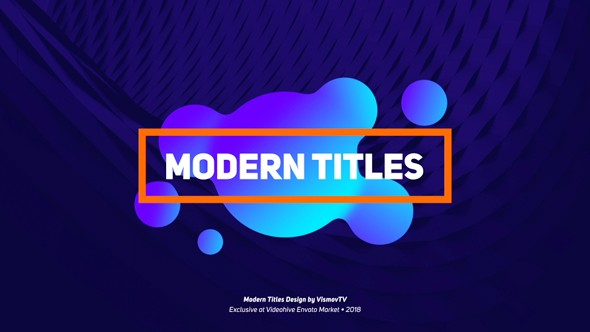 Videohive Modern Titles Design 21425930