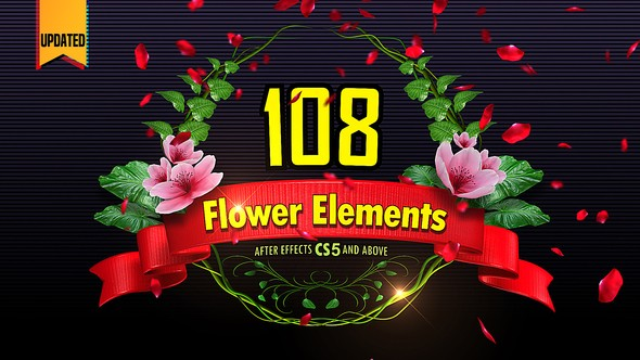 Videohive 108 Flower Elements 14656996
