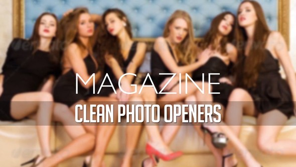 Videohive Magazine Photo Openers - Logo Reveal 11875573