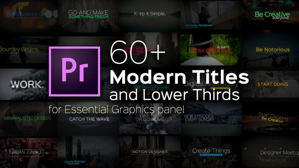Videohive Modern Titles and Lower Thirds for Premiere Pro 22257923