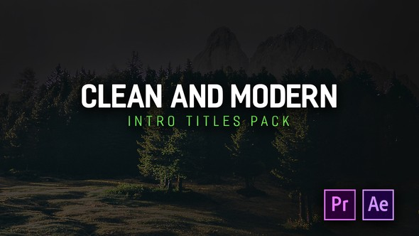 Videohive Modern Intro Titles Pack for Premiere Pro 22293382