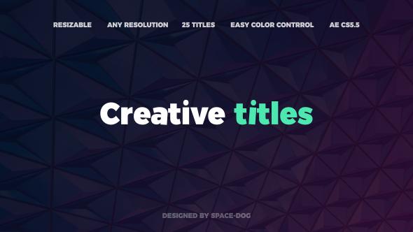 Videohive Creative Titles 20764828