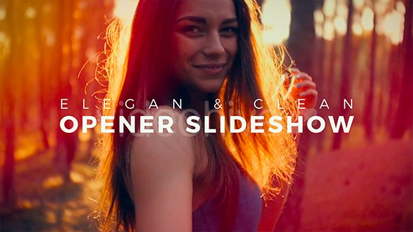 Videohive Elegant and Clean Opener Slideshow 18036991