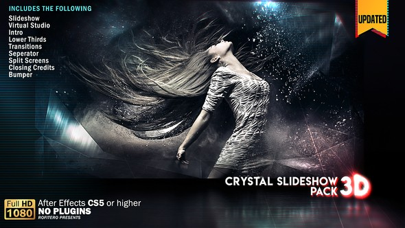 Videohive Crystal Slideshow Pack 3D 20854841 V.2