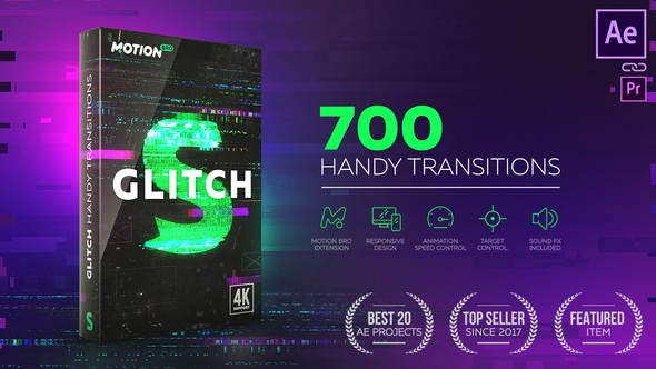 Videohive Glitch Transitions 21059280