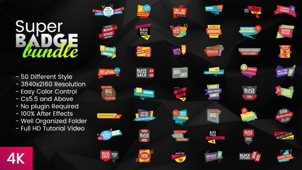 Videohive Super Badge Bundle 20127301