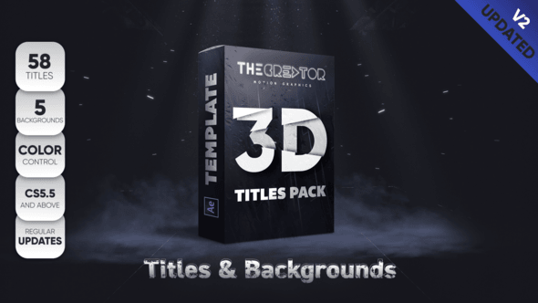 Videohive 3D Titles Pack 22808767