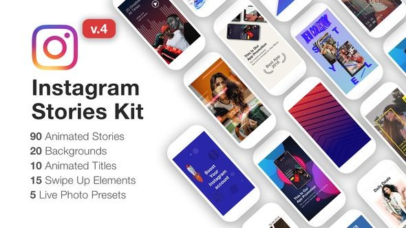 Videohive - Instagram Stories Kit // Instagram Story Pack V4 22195723