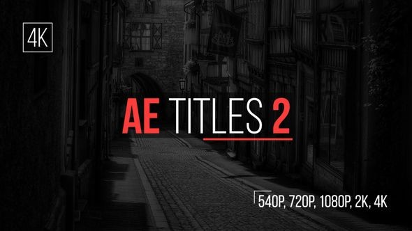 Videohive AE Titles 2 16413806