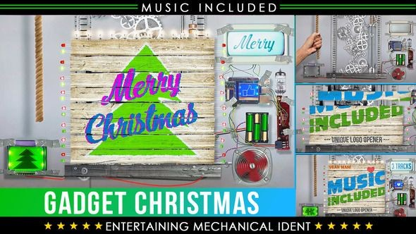 Videohive Christmas Logo - Crazy Technology 23030508