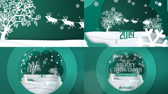 Videohive Merry Christmas Greeting Card 22921012
