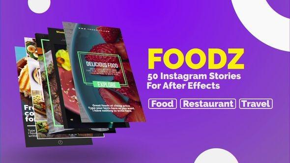 Videohive Foodz Instagram Stories 22955557