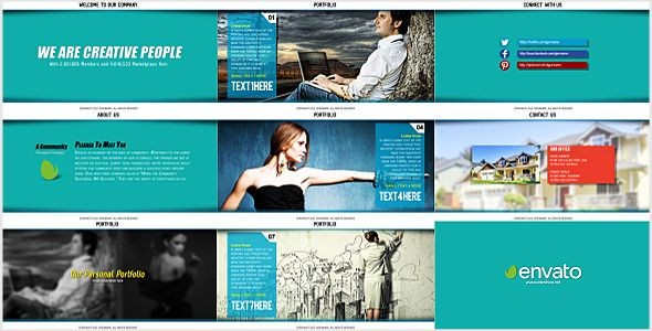 Videohive Corporate And Portfolio Presentation 5596258