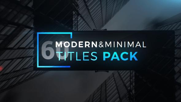 Videohive Modern Minimal Titles Pack 19648545