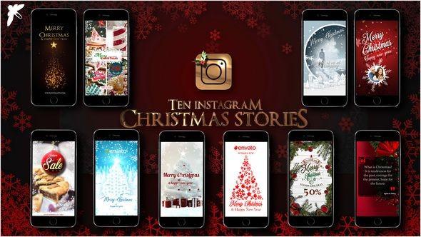 Videohive 10 Instagram Christmas Stories 22994870