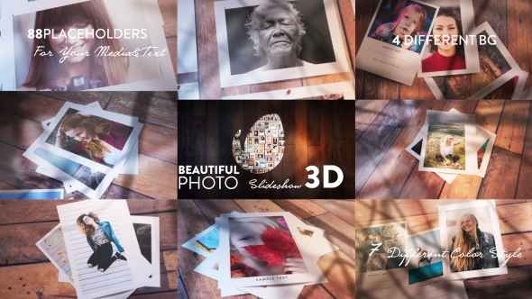 Videohive Beautiful Photo Slideshow I 3D 20572532