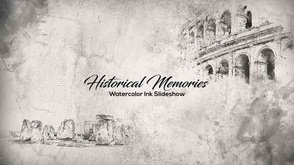 Videohive Historical Memories // Watercolor Ink Slideshow 18404158