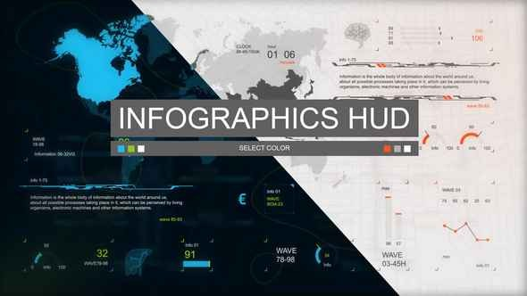 Videohive Infographics HUD set 3 22173158