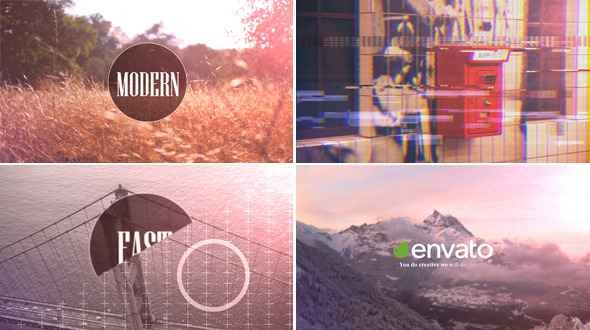 Videohive Quick Glitchy Opener 11028545