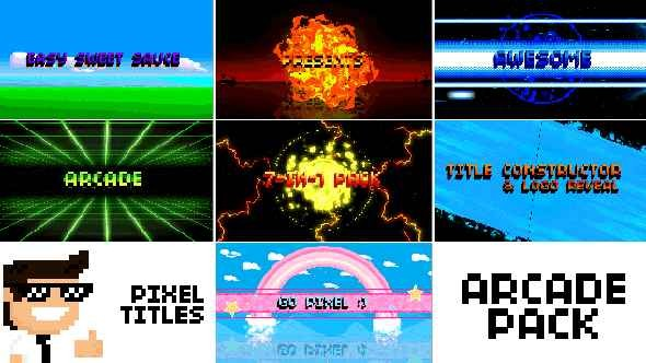 Videohive Pixel Titles & Logo Constructors (Arcade Pack) V1.5 15990451