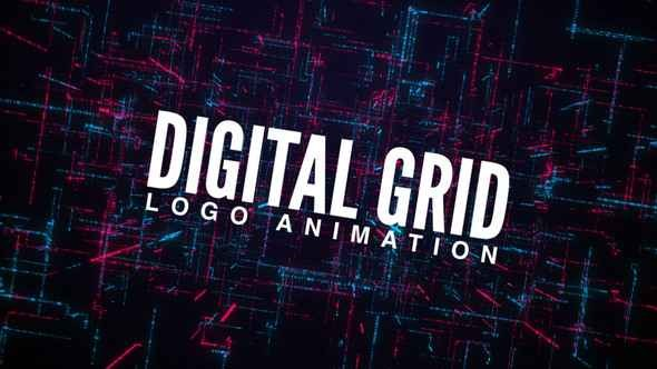 Videohive Digital Grid Logo Animation 23146902