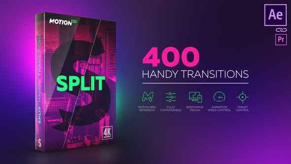 Videohive Split Handy Transitions 21617948 - Last Update