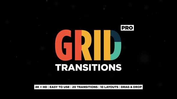 Videohive Grid Transitions 23154591