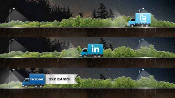 Videohive Social Truck Lower Third 4236956