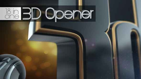 Videohive 3D Opener 18 in 1 4467367