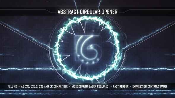 Videohive Abstract Circular Opener 15894409