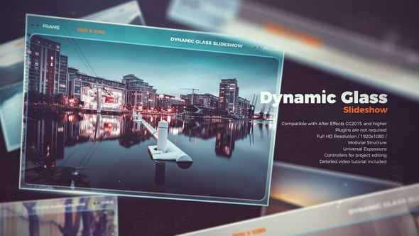 Videohive Dynamic Glass Slideshow 22174113