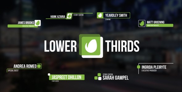 Videohive Lower Thirds 17995667