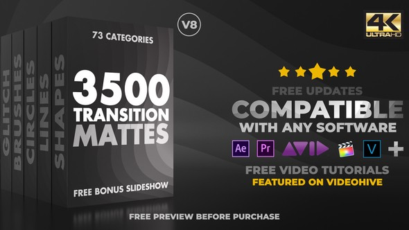 Videohive Ultimate Transition Mattes Pack 19336911