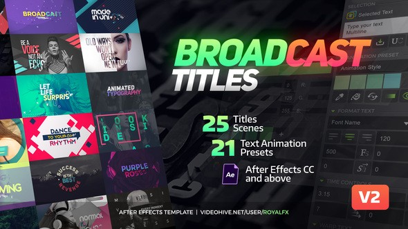 Videohive TypeX - Text Animation Tool | Broadcast Pack: Modern Colorful Typography Titles 20233979 - V.2