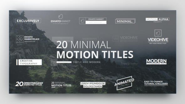 Videohive Clean Minimal Titles 21973596