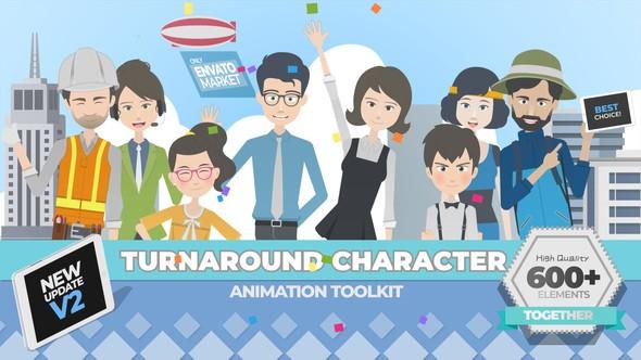 Videohive 360 Turnaround Character Toolkit v2.0 22379360