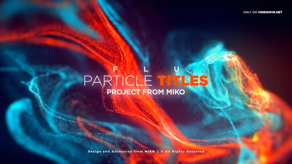 Videohive FLU - Particles Titles 23098044