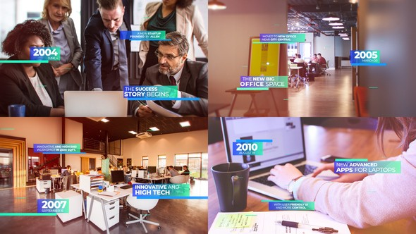 Videohive Modern Corporate Timeline Presentation 23211134